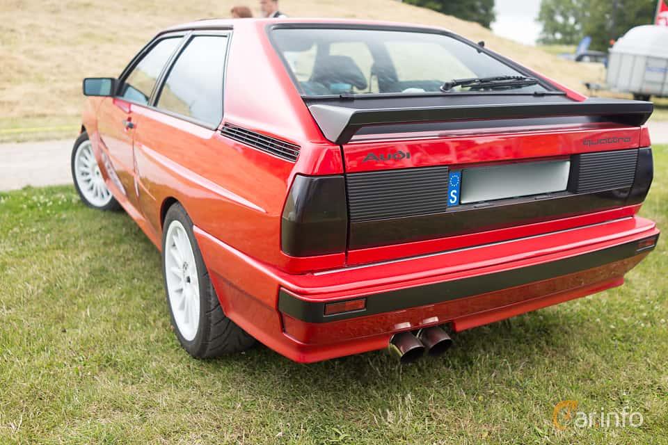 Back/Side of Audi quattro 2.1 quattro Manual, 200ps, 1983 at Thulinträffen 2015