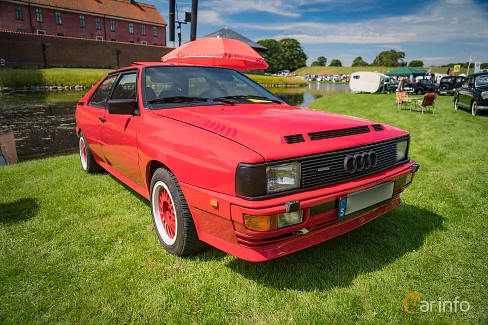 Front/Side  of Audi quattro 2.1 quattro Manual, 200ps, 1983 at Thulinträffen 2016
