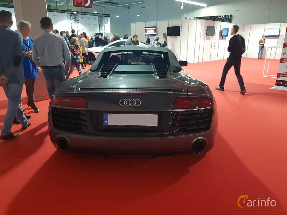 Back of Audi R8 Spyder at Warsawa Motorshow 2018
