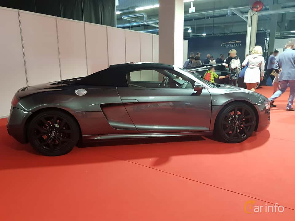 Side  of Audi R8 Spyder at Warsawa Motorshow 2018
