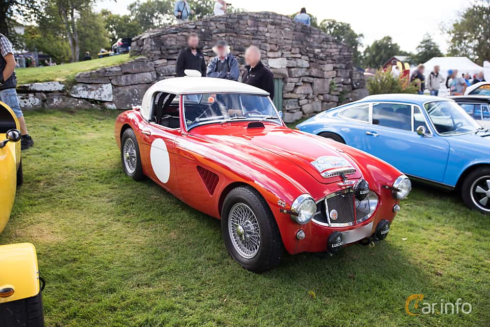 Front/Side  of Austin-Healey 3000 2.9 Manual, 126ps, 1961 at Sportvagnsträffen 2016