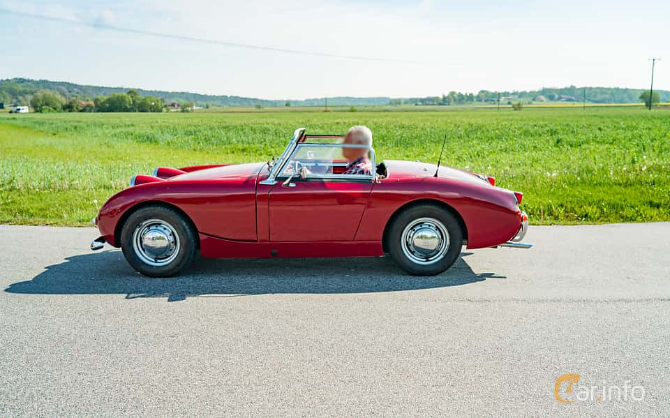 Side  of Austin-Healey Sprite 0.95 Manual, 44ps, 1960 at Tjolöholm Classic Motor 2019