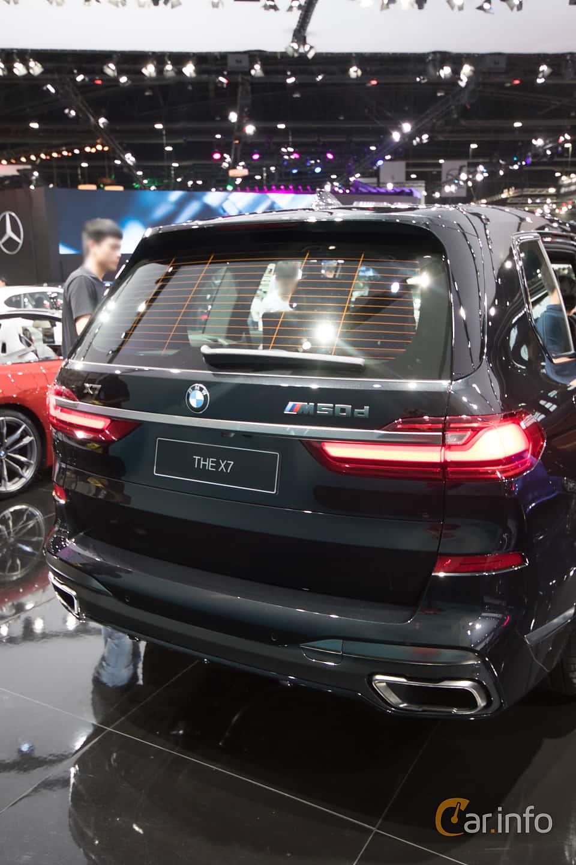 Back of BMW X7 M50d  Steptronic, 400ps, 2019 at Bangkok Motor Show 2019