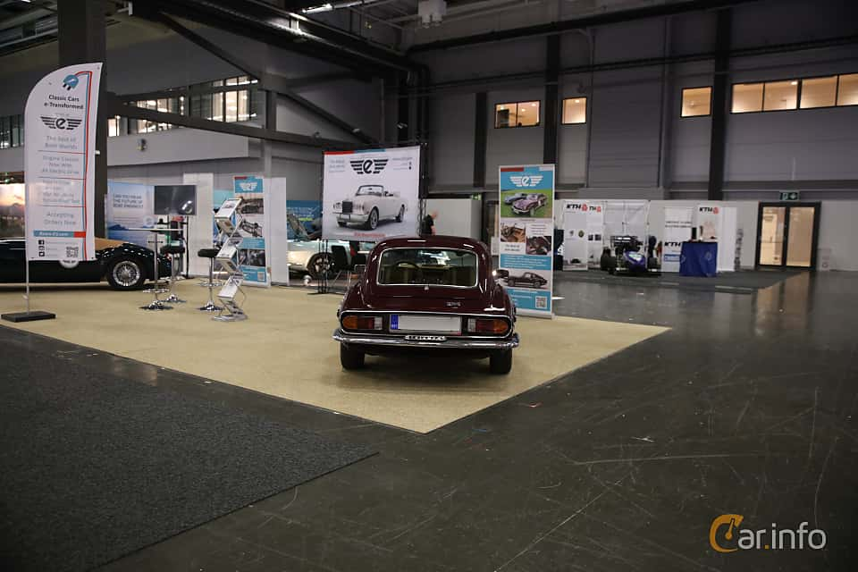 Back of Triumph GT6 2.0 Manual, 106ps, 1972 at eCar Expo Göteborg 2018