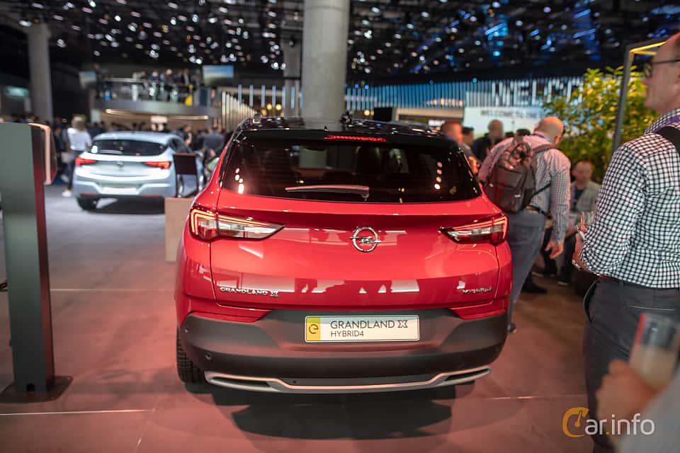 Back of Opel Grandland X Hybrid4  Automatic, 300ps, 2020 at IAA 2019
