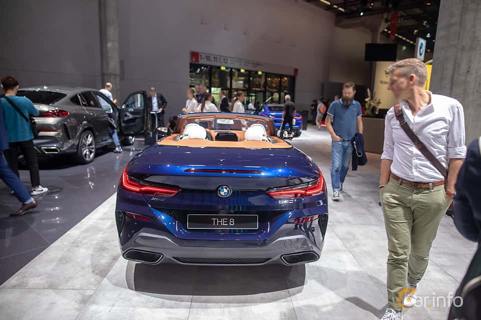 Back of BMW 840i Convertible  Steptronic, 340ps, 2020 at IAA 2019