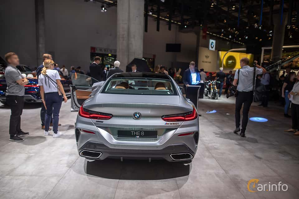 Back of BMW M850i xDrive Gran Coupe  Steptronic, 530ps, 2020 at IAA 2019