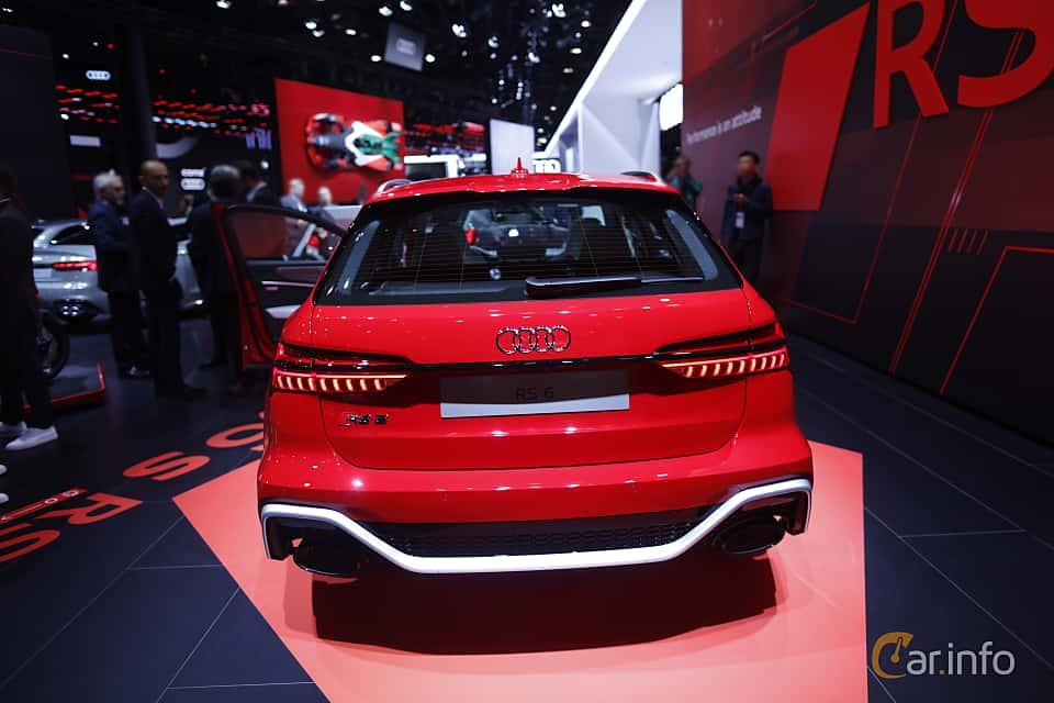 Back of Audi RS 6 Avant  TipTronic, 600ps, 2020 at IAA 2019