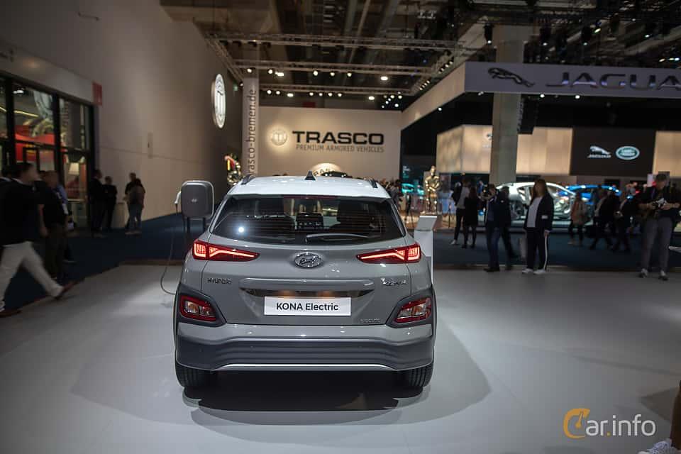Back of Hyundai Kona Electric 64 kWh Single Speed, 204ps, 2020 at IAA 2019