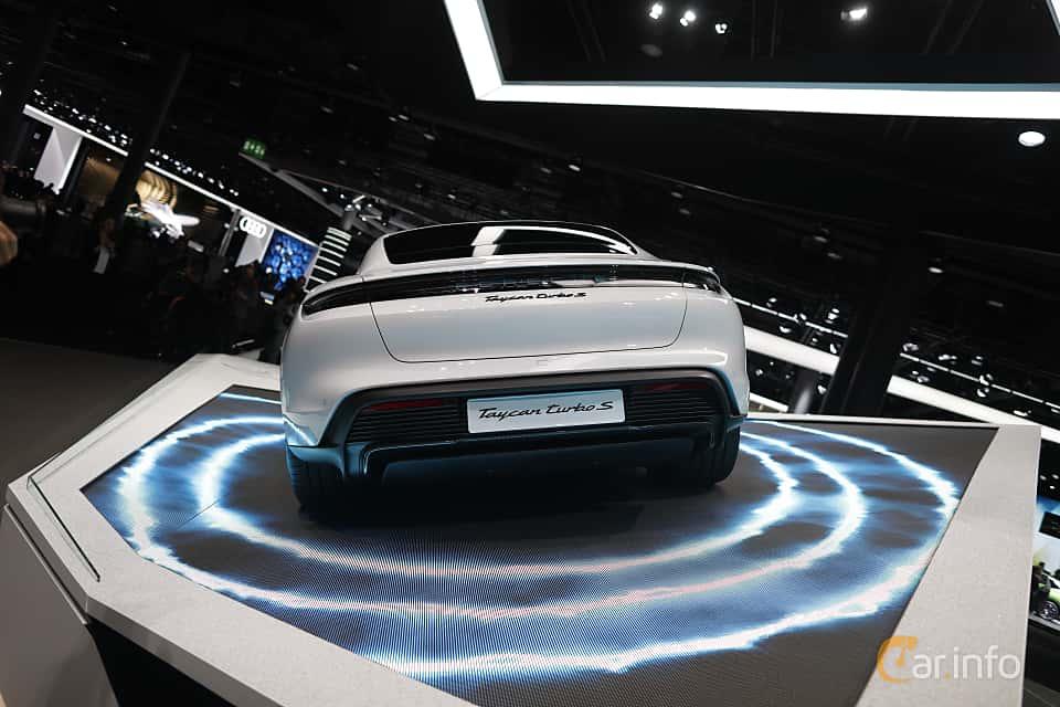 Back of Porsche Taycan Turbo S  Single Speed, 761ps, 2020 at IAA 2019
