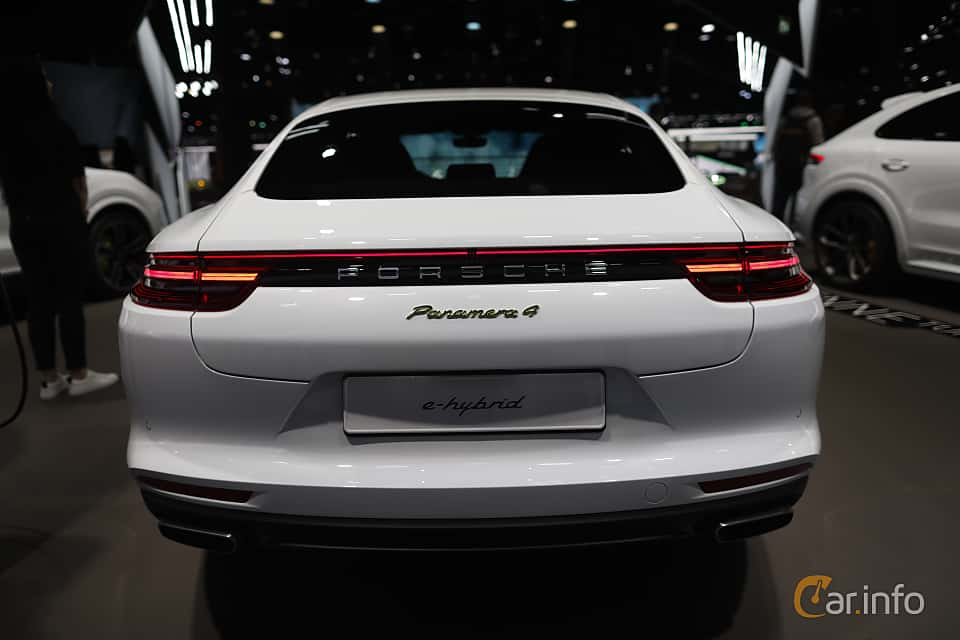 Back of Porsche Panamera 4 E-Hybrid 2.9 V6 4 PDK, 462ps, 2020 at IAA 2019