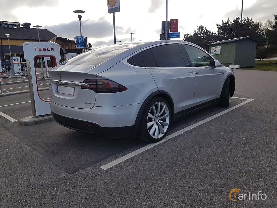 Back/Side of Tesla Model X 90D 90 kWh AWD Single Speed, 423ps, 2016
