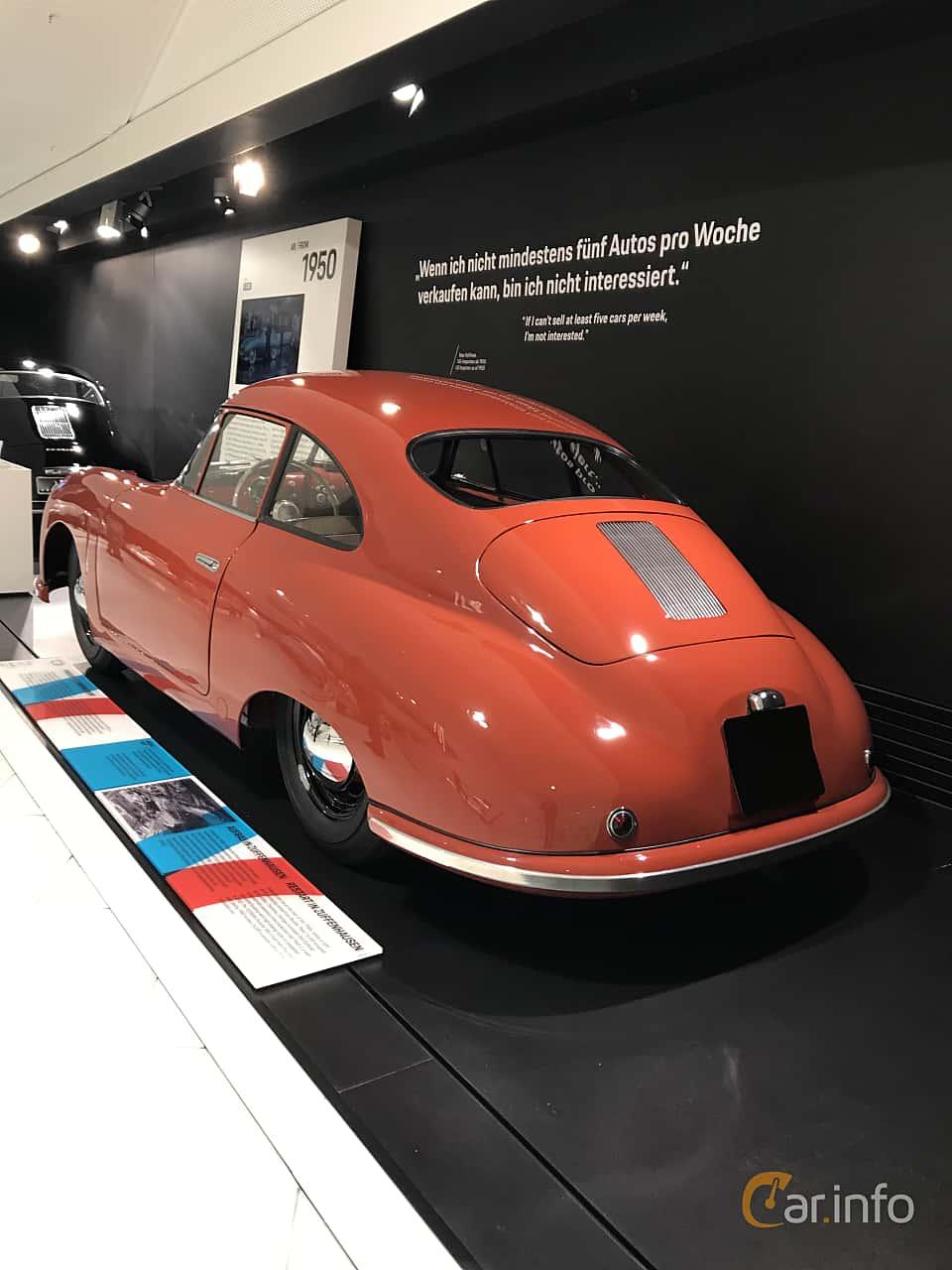 Back/Side of Porsche 356 1100 Coupé 1.1 Manual, 40ps, 1948
