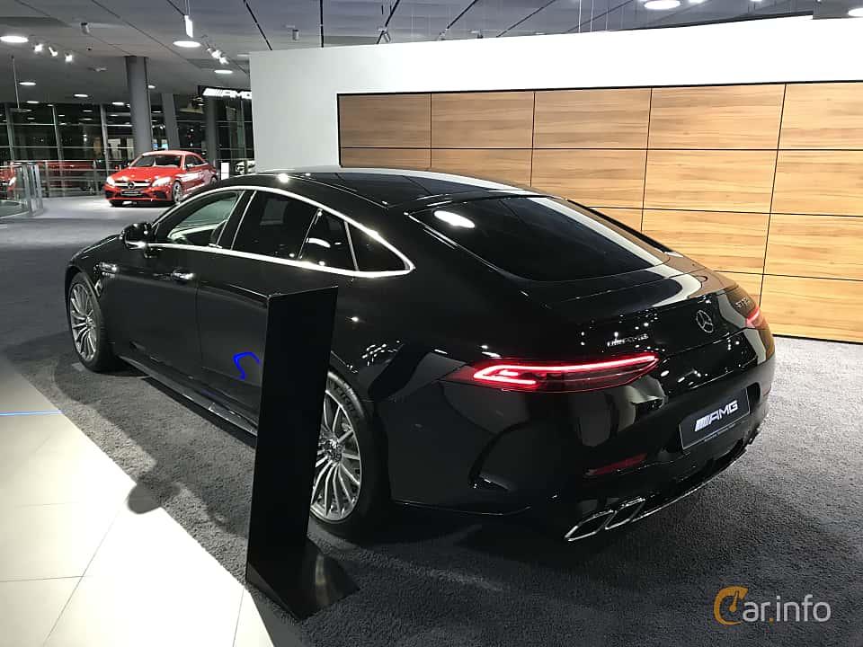 Back/Side of Mercedes-Benz AMG GT 63 S 4-door Coupé 4MATIC+  , 639ps, 2019