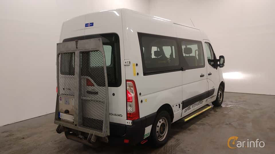 Back/Side of Opel Movano Minibus 2.3 CDTI Manual, 125ps, 2012