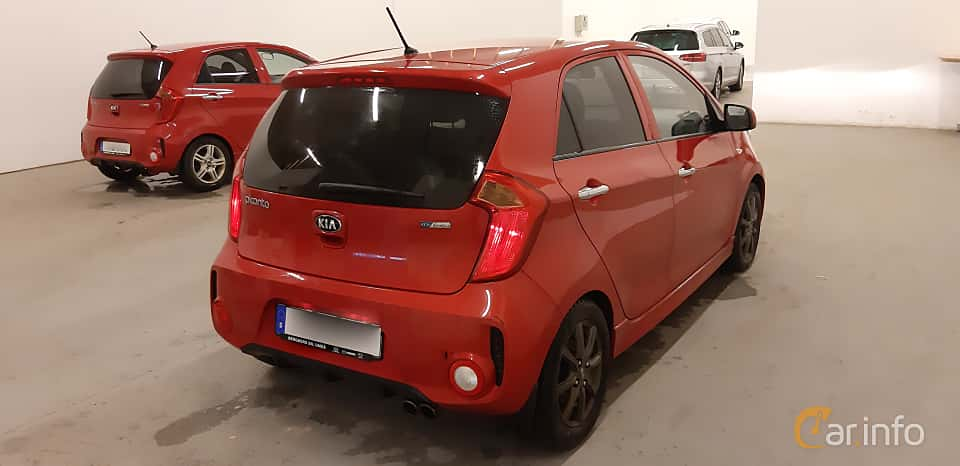 Back/Side of Kia Picanto 5-door 1.0 Manual, 69ps, 2016