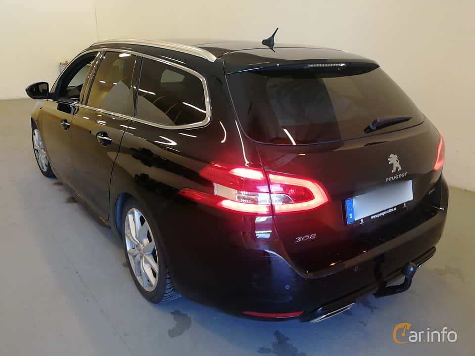 Back/Side of Peugeot 308 SW 2.0 BlueHDi EAT, 180ps, 2016