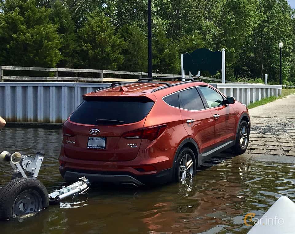 Back/Side of Hyundai Santa Fe 2018