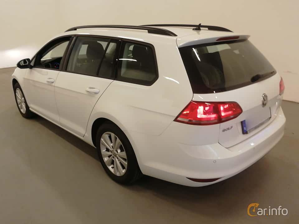 Back/Side of Volkswagen Golf Variant 1.6 TDI BlueMotion DSG Sequential, 110ps, 2016