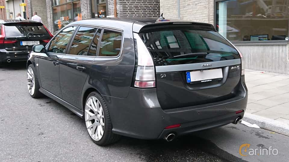 Back/Side of Saab 9-3 SportCombi 2.8 Turbo V6 XWD Automatic, 280ps, 2010