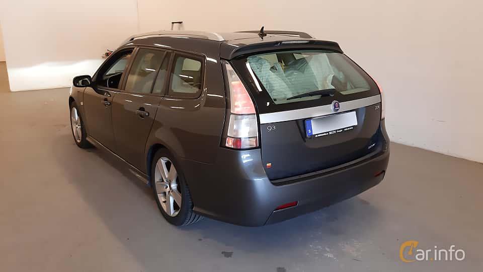 Back/Side of Saab 9-3 SportCombi 2.0t BioPower  Manual, 175ps, 2009