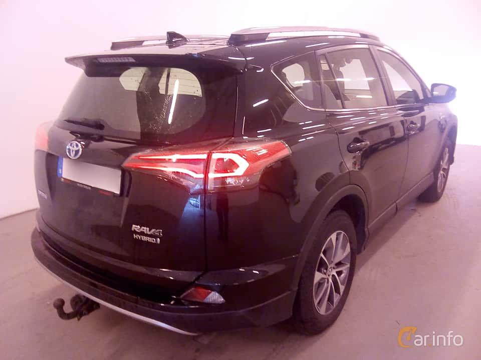 Back/Side of Toyota RAV4 Hybrid E-FOUR 2.5 i-AWD ECVT, 197ps, 2017