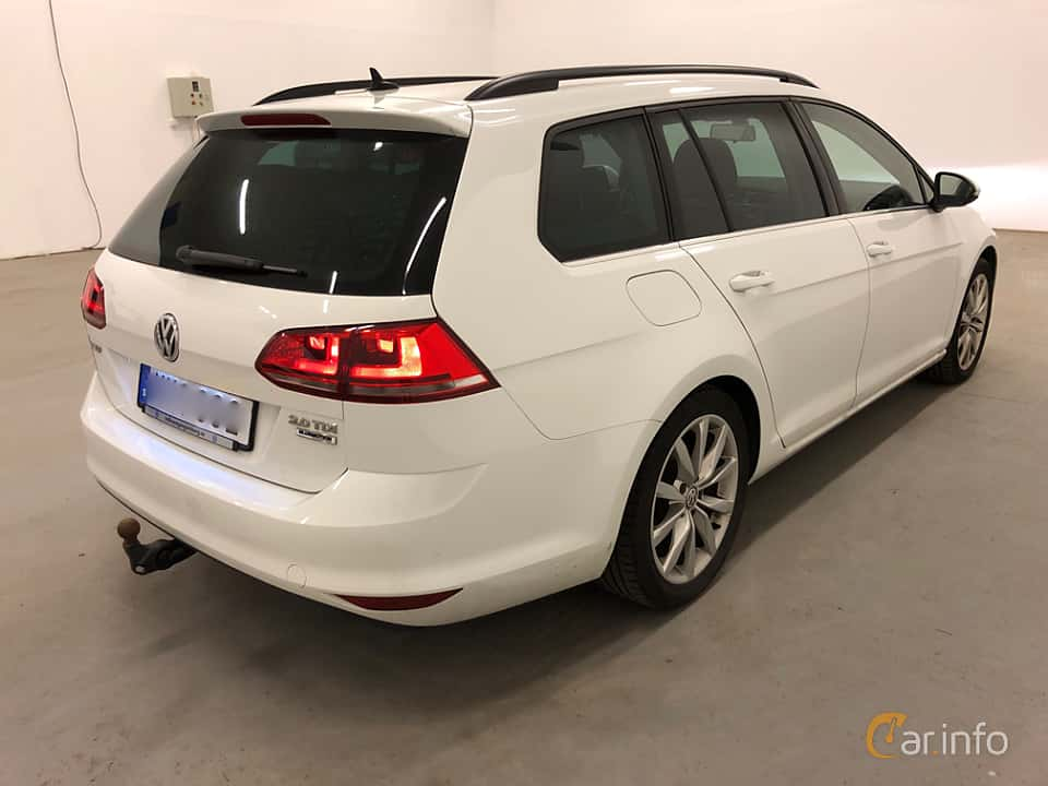 Back/Side of Volkswagen Golf Variant 2.0 TDI BlueMotion  DSG Sequential, 150ps, 2016