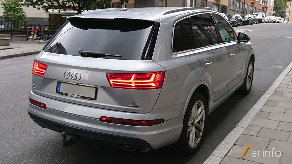 Back/Side of Audi Q7 3.0 TDI V6 quattro TipTronic, 272ps, 2016