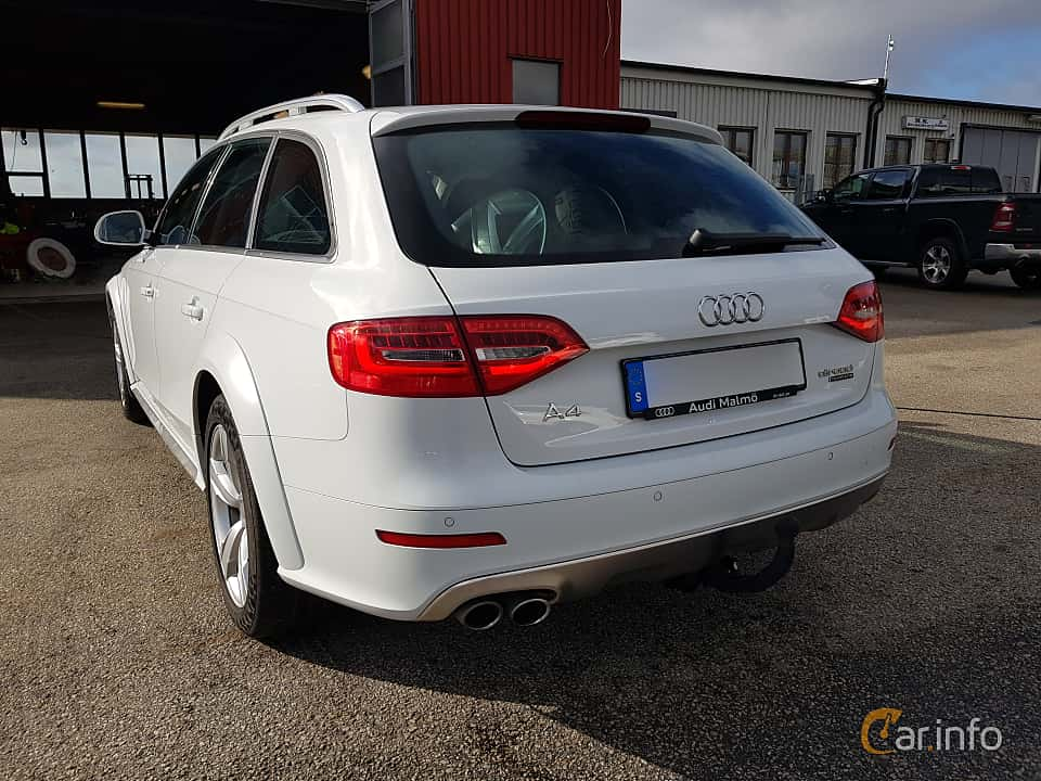 Back/Side of Audi A4 allroad quattro 2.0 TDI clean diesel quattro  S Tronic, 190ps, 2016