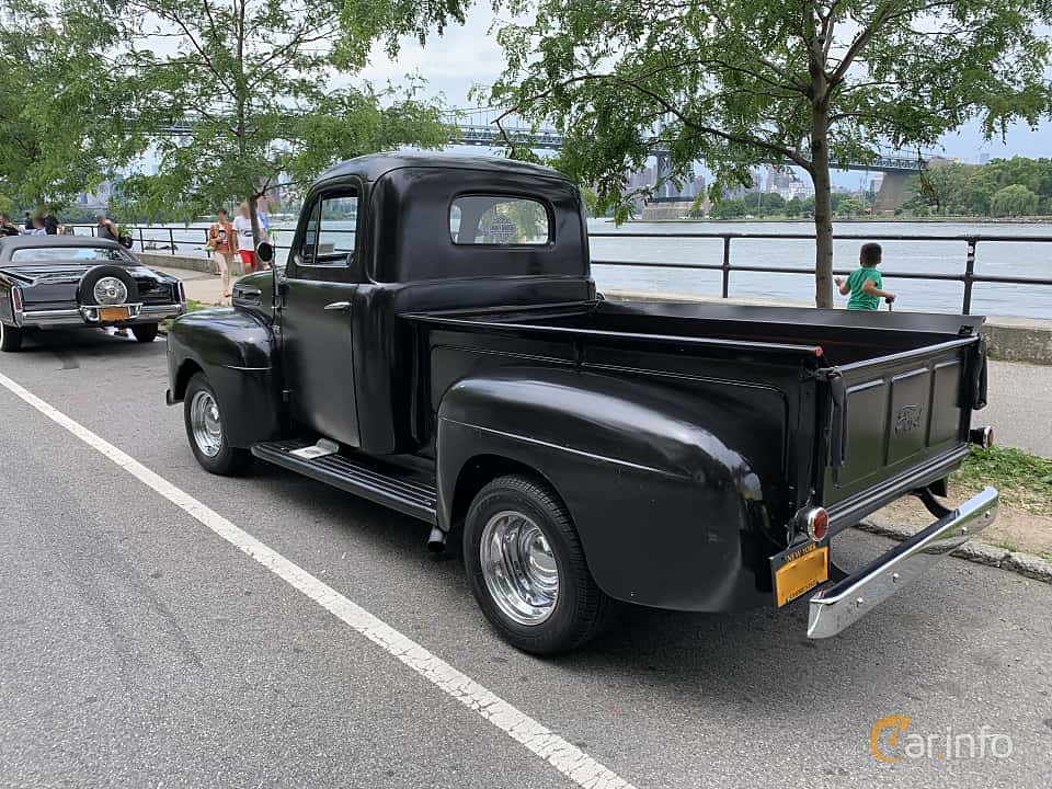 Back/Side of Ford F Pickup 3.7 Manual, 97ps, 1949 at Father's Day Classic Car Show New York 2019
