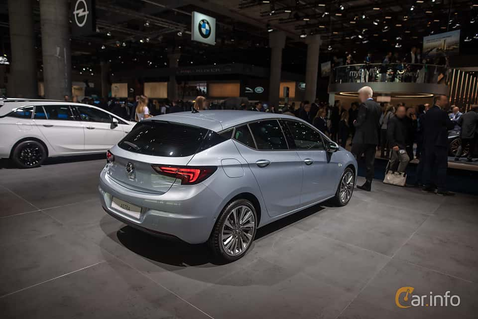 Back/Side of Opel Astra 1.2 Turbo Manual, 130ps, 2020 at IAA 2019