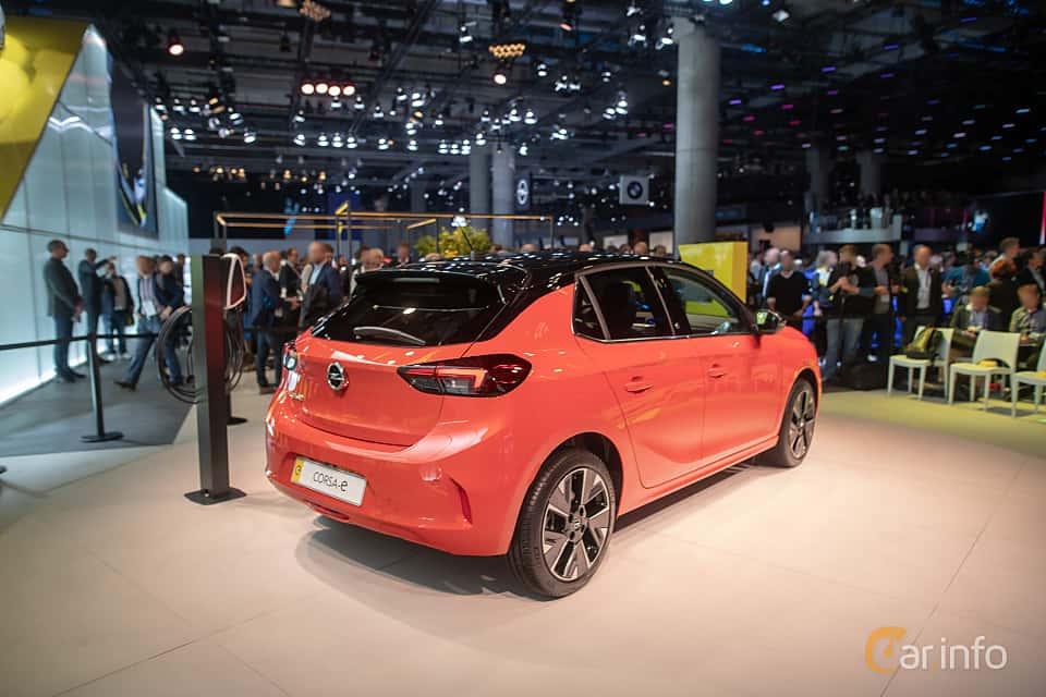 Back/Side of Opel Corsa-e 50 kWh Single Speed, 136ps, 2020 at IAA 2019