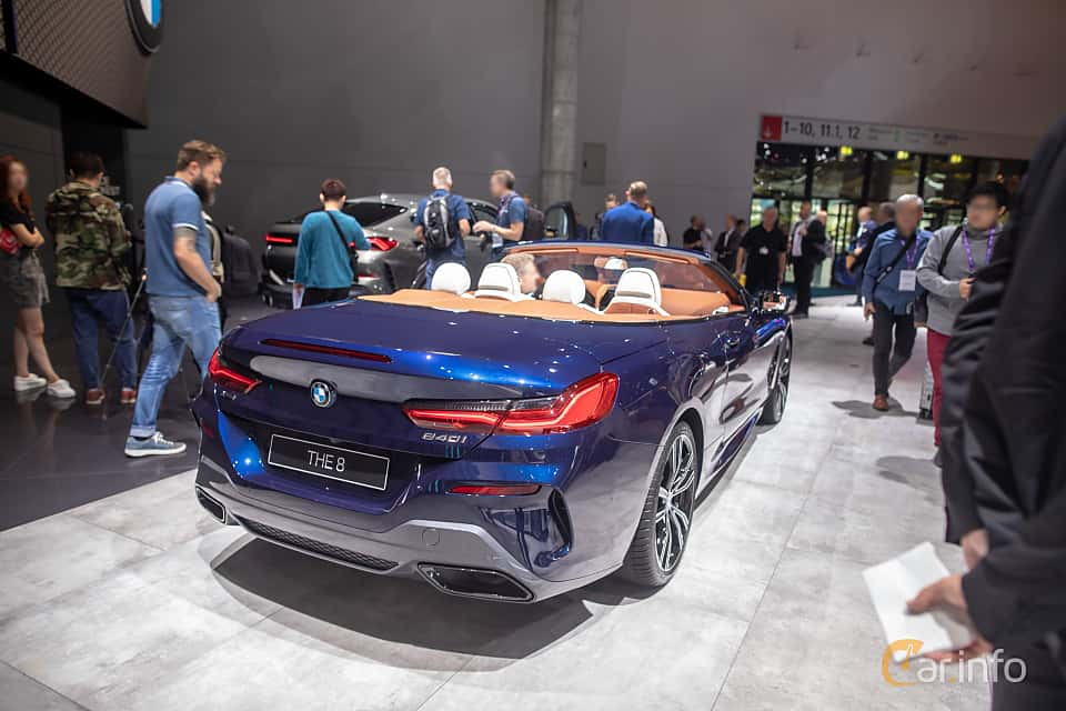 Back/Side of BMW 840i Convertible  Steptronic, 340ps, 2020 at IAA 2019