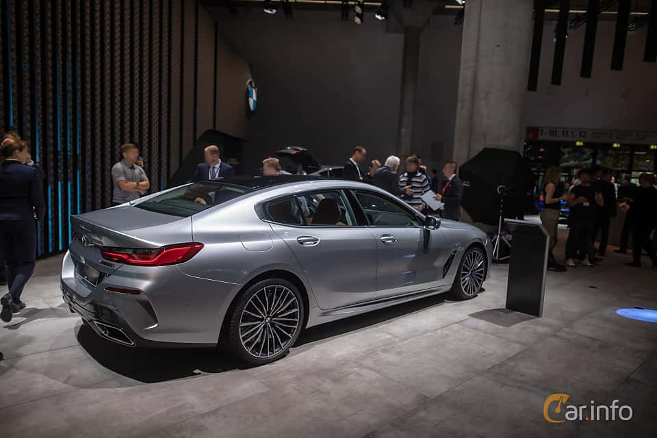 Back/Side of BMW M850i xDrive Gran Coupe  Steptronic, 530ps, 2020 at IAA 2019