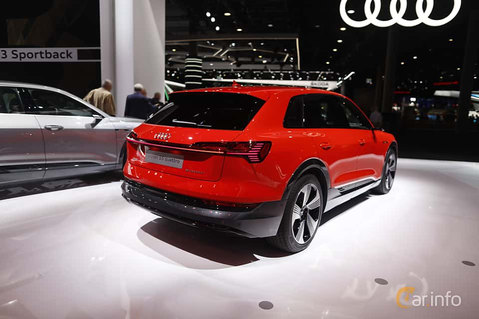 Back/Side of Audi e-tron 55 quattro  Single Speed, 408ps, 2020 at IAA 2019