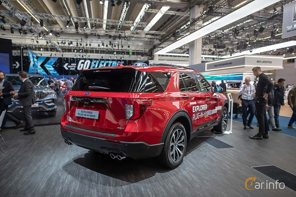 Back/Side of Ford Explorer Plug-In-Hybrid  Automatic, 457ps, 2020 at IAA 2019