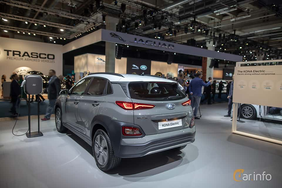 Back/Side of Hyundai Kona Electric 64 kWh Single Speed, 204ps, 2020 at IAA 2019