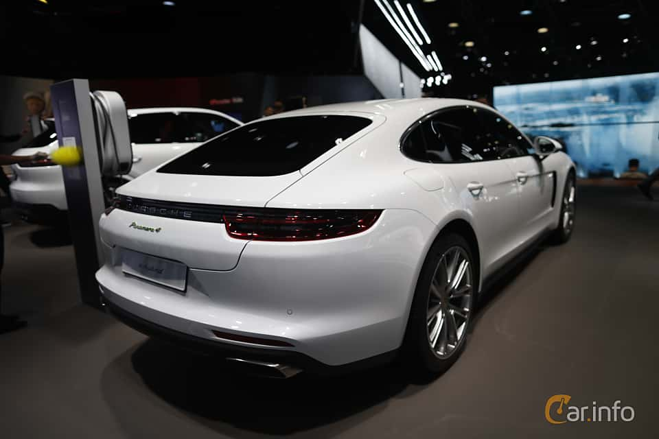 Back/Side of Porsche Panamera 4 E-Hybrid 2.9 V6 4 PDK, 462ps, 2020 at IAA 2019