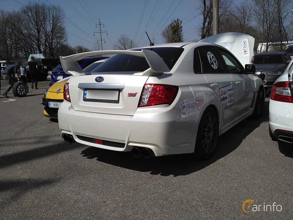Back/Side of Subaru WRX STi Sedan 2.5 4WD Manual, 300ps, 2007 at Ltava Time Attack 1st Stage