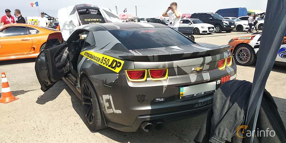 Back/Side of Chevrolet Camaro ZL1 6.2 V8 587ps, 2013 at Proudrs Drag racing Poltava 2019