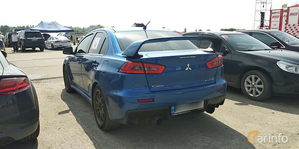 Back/Side of Mitsubishi Lancer Evolution 2.0 4WD DSG Sequential, 295ps, 2008 at Proudrs Drag racing Poltava 2019