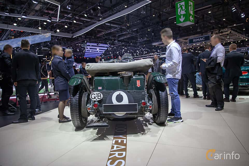 Back of Bentley 4.5 Litre Cabriolet 4.4 Manual, 110ps, 1930 at Geneva Motor Show 2019