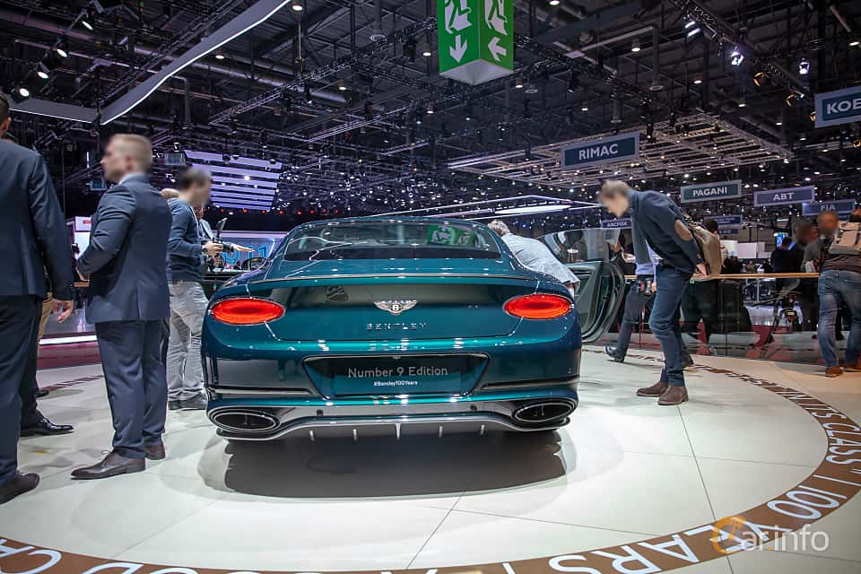 Back of Bentley Continental GT 6.0 W12 TSI DCT, 635ps, 2019 at Geneva Motor Show 2019