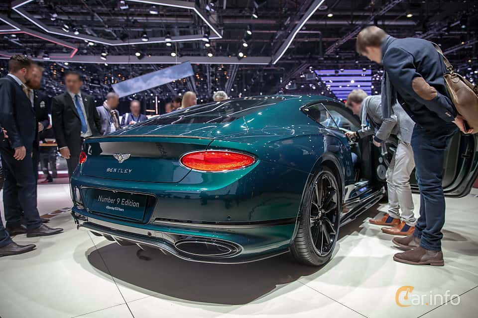 Back/Side of Bentley Continental GT 6.0 W12 TSI DCT, 635ps, 2019 at Geneva Motor Show 2019