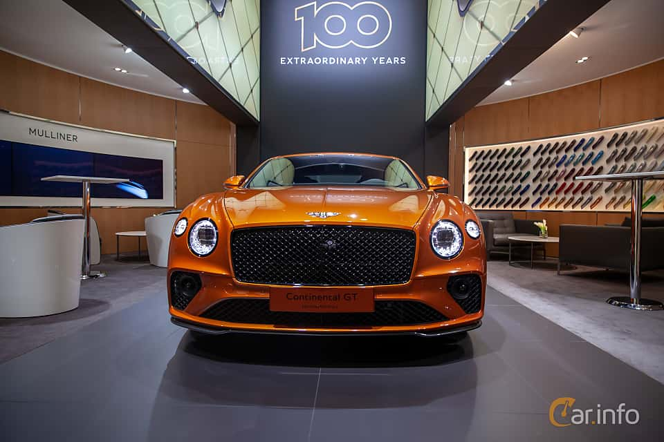 Front  of Bentley Continental GT 6.0 W12 TSI DCT, 635ps, 2019 at Geneva Motor Show 2019