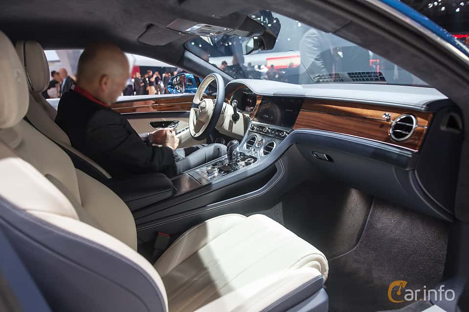 Interior of Bentley Continental GT 6.0 W12 TSI DCT, 635ps, 2018 at Geneva Motor Show 2018