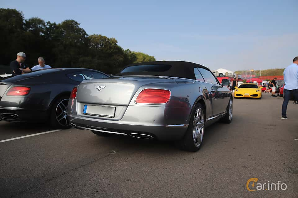 Back/Side of Bentley Continental GT Convertible 6.0 W12 Automatic, 575ps, 2012 at Autoropa Racing day Knutstorp 2019
