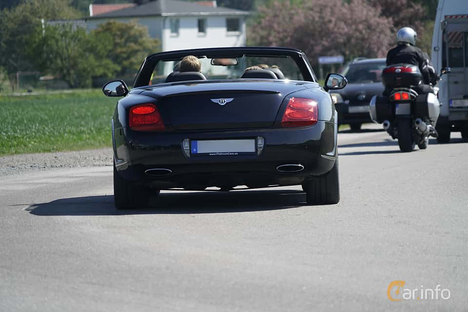 Back of Bentley Continental GTC Speed 6.0 W12 Automatic, 610ps, 2010 at Tjolöholm Classic Motor 2017
