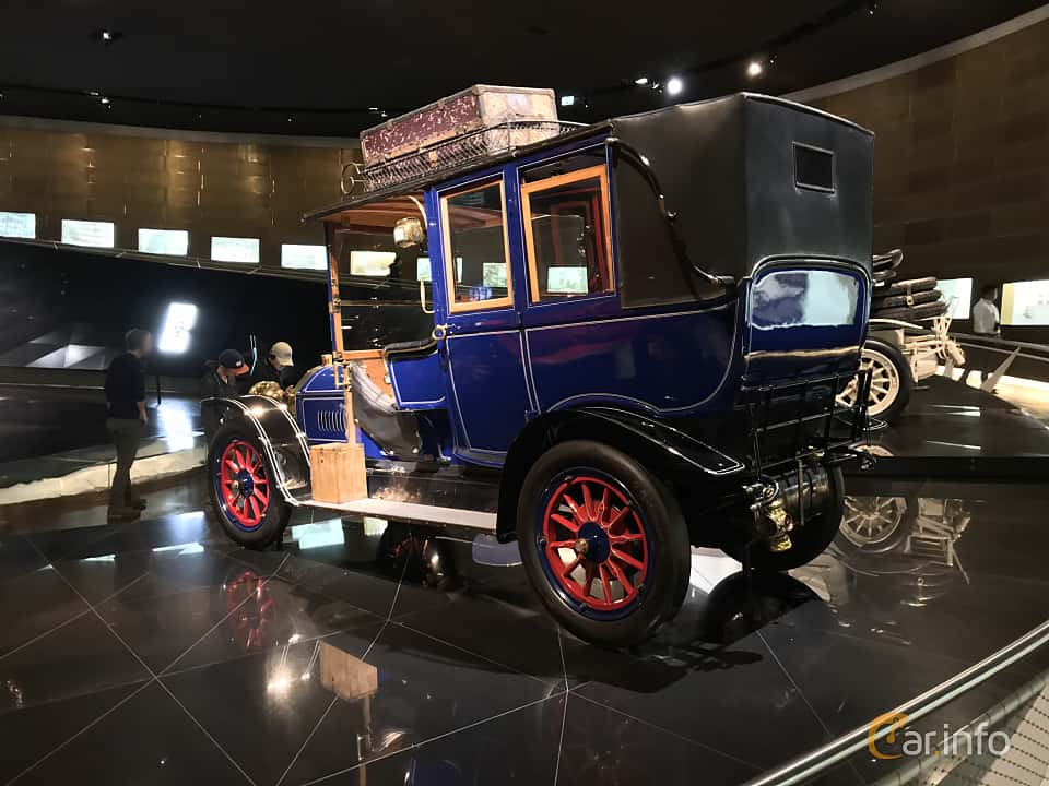 Back/Side of Benz 20/35 PS Landaulet 5.2 Manual, 35ps, 1909
