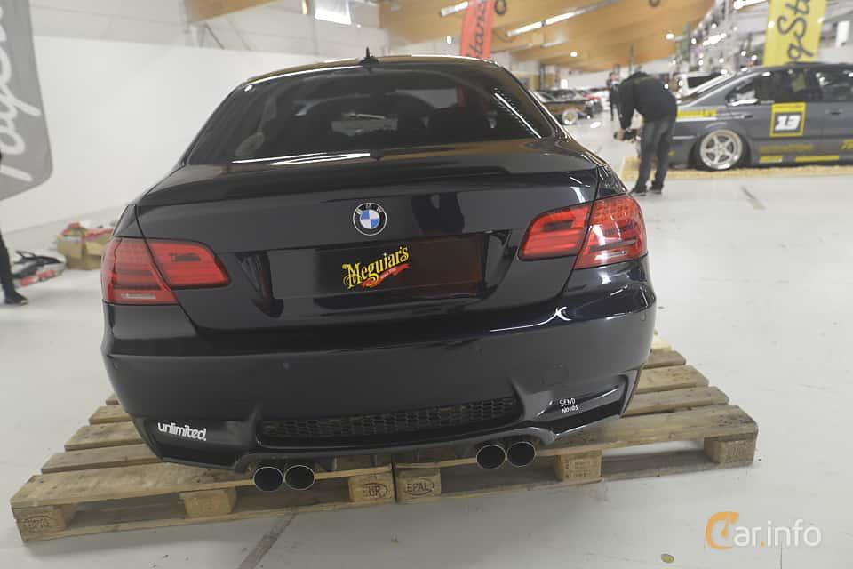 Back of BMW M3 Coupé  Manual, 420ps, 2007 at Bilsport Performance & Custom Motor Show 2019